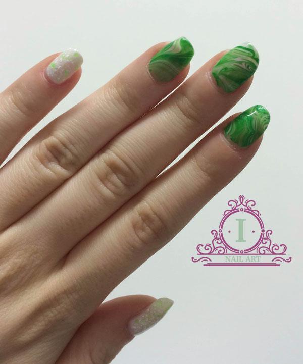 water marble verde