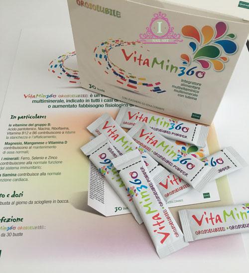 vitamin360 è un integratore alimentare multivitaminico e multiminerale con luteina