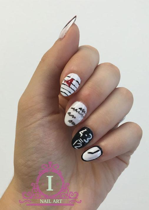 una nail art semplice e simpatica per il ritorno a scuola