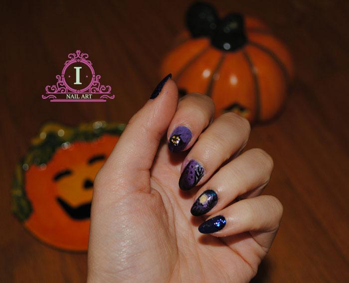 ecco la mia proposta per halloweeen una gothic nail art