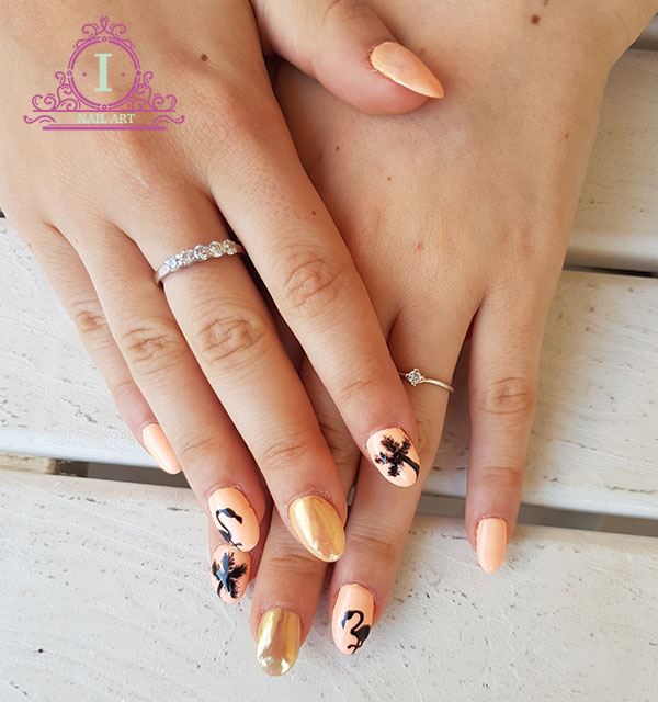 Flamingo nails unghie oro a specchio ilaria vi parla - Unghie gel specchio ...
