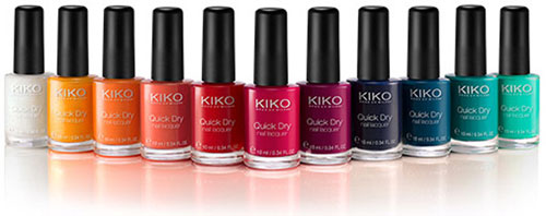 smalti colorati quick dry kiko milano