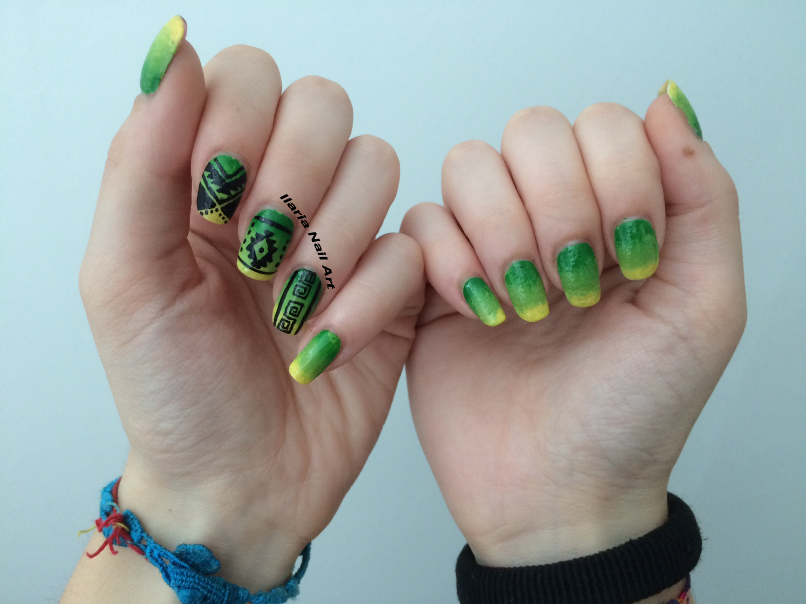 nail art tribale