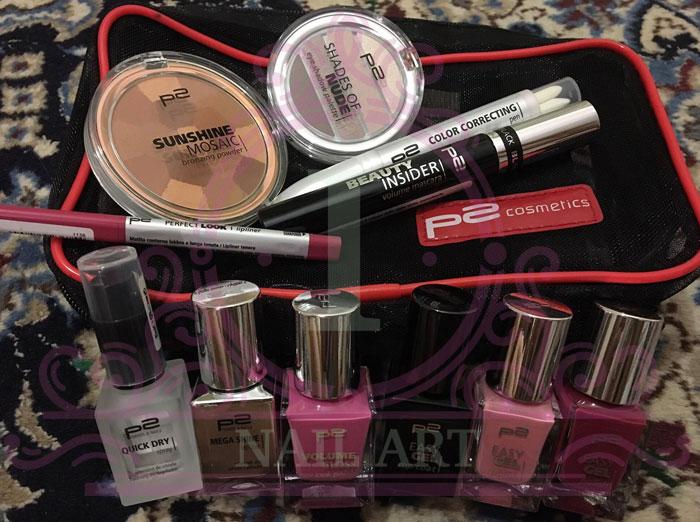 questi sono i prodotti che mi ha inviato l'azienda p2 cosmetics da provare e recensire