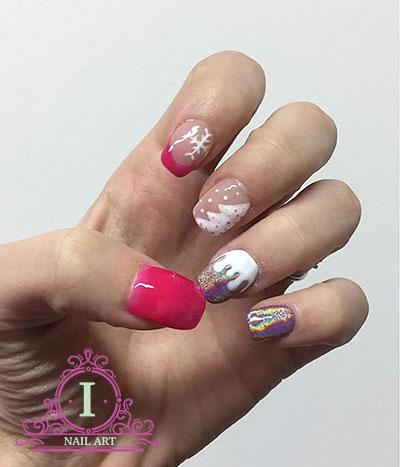 unghie olografiche con polvere holo sul blog di ilarianailart