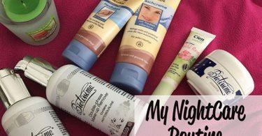 skincare notturna con prodotti luvos e lifecare